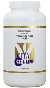 Teunisbloemolie 1000 mg, 200 softgelcapsules.